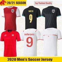 اليورو 2021 سويسرا Soccer Jerseys Seeferovic 20 21 Gavranovic Shaqiri Embolo Alaba Sabitzer النمسا كرة القدم قميص شواء جيرسي