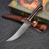 VG10 Damascus Staal Zakmes Campsite Yacht Survival Fairs Tactical Fixed Blade Wood Handle Chef Cleaver Kitchen Edc Tool