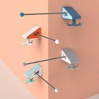 القضبان السنانير 1 قطع لكمة خالية متعددة الوظائف التخزين الدورية هوك الجرف أدوات المطبخ والحمام