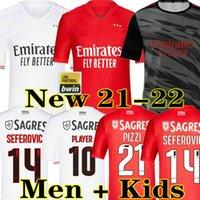 Novo 2020 2021 SL Benfica Pizzi Jerseys 20 21 Waldschmidt Seferovic ToDibo Vertonghen Rafa A.almeida Men Kids Football Shirt
