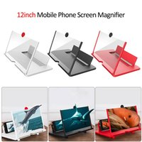 12 inch 3D Mobile Phone Screen Magnifier HD Video Amplifier with Foldable Holder Magnifying Glass Smart Phones Stand Bracket
