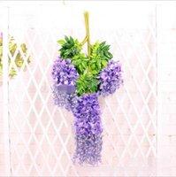 Wisteria décoration de mariage fleur artificielle wisteria fleur de soie longue 110 cm blanc violet rouge vert hwa8263