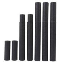 500 pçs / lote Black Kraft papel incenso barril barril pequeno armazenamento caixa para lápis joss stick conveniente carregando 20.7x2.1cm