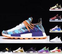 2021 Melhor Qualidade NMD Corrida Humana Running Shoes Pharrell William BBC Green Xadrez Infinite Espécies Homens Mulheres Ao Ar Livre Trainer Sports Sneaker
