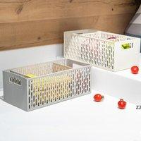 Caixa de armazenamento de plástico cutlery cutlery storages caixas desktop sundries organizer cesta de cor sólida cor organizadores multifuncionais hwe10442