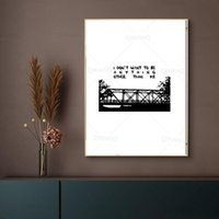 Paintings One Tree Hill Bridge Abstract Nature Landscape Picture Poster Nordic Canvas Print Painting Living Room Decoration