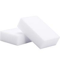 100шт высокой плотности белый губчатый ластик для клавиатуры многоцелевых автомобилей обувь кухня ванная комната чистка 10 * 6 * 2 см блюдо