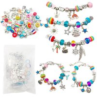 925 Silver Alloy Snake Chain Bracelet Bone Chain DIY Glass Bead Brand Bracelet Jewelry For Women Gift