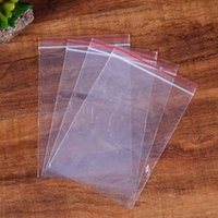 500pcs 8x12cm Jewelry Ziplock Zip Zipped Lock Reclosable Poly Clear Packaging Bags Transparent Travel Plastic Bag