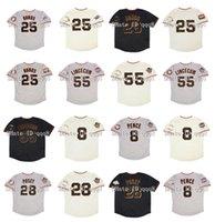 2002 Retro 25 Barry Bonds Jersey 55 Tim Lincecum 8 Hunter Pence 28 Buster POSEY 2010 2012 WS Patch 2007 All Star Vintage Baseball Trikots