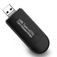 Multi USB2.0 Tipo-C Micro USB OTG com leitor de cartão SD TF para computador MacBook Tablet DHL