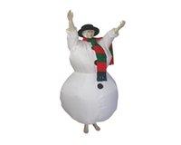 Traje de Halloween para Mujeres Hombres Adultos Navidad Purim Carnival Disfraces Muñeco de nieve Ropa inflable para Party Airblown Vestido Mascota