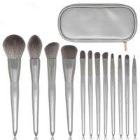 Makeup Pinsel Kosmetik 12 Mondschein Silber Weibliche Bürsten Set Lidschatten-Palette Lippenstift-Werkzeug wiederverwendbar