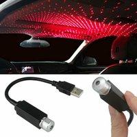 Sıcak Araba Atmosfer Işık USB Yıldızlı Gökyüzü Lamba Dekorasyon Yıldız Tavan Projeksiyon Lambası Lazer USB Çatı İç Araba Ortam Işığı
