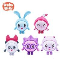 5pcs / Set Original Baby Riki Figures Collezionable Safe Soft Azione Modello Bambola Compatibile con diapositive Playets Giocattolo Giochi regalo