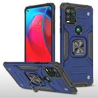 Ibrido antiurto PC TPU Armour Holder Magnete Magnete Defender Telefono Custodie per iPhone 13 Pro Max Moto G Stylus 5G Copertura anello dito B
