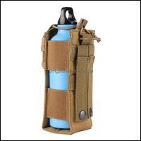 Esportes ao ar livre Outdoorsdoor sacos 600d nylon tático molle molle garrafa de água bolsa militar cantina er coldre viajar chaleira saco esporte
