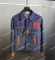 21SSS designers Mens Vestes Femmes Jacquard Denim Jacket Man Paris Mode T-shirt T-shirt Tees Street Sleeve Sleeve Luxurys T-shirts Blanc Bleu Bleu 05