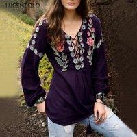 Women's T-Shirt Embroidery Printing Shirt Women Plus Size Harajuku Fashion Drawstring Womens Long Sleeve Tshirt Lugentolo