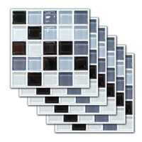Wall Stickers 6 Pcs Mosaic Tile Sticker Self-Adhesive Bathroom Kitchen Decor Stair Home Decoration
