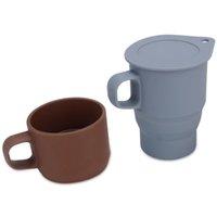 Телескопическая кружка кофе с соломиной и крышкой BPA Бесплатные силиконовые складные водяные чашки 3 цвета убираются кемпинг путешествия бокал RRD7322