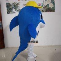 Mascote trajes mar animal roupa adorável golfinho mascote traje traje terno adulto tamanho halloween carnaval fantasia vestido palco desempenho costu