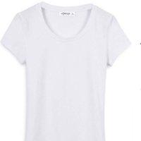 T-shirt con scollo rotondo di alta qualità da donna Alla moda Alla moda comodo in cotone traspirante sportivo in cotone