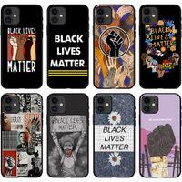 흑인 생활 문제 iphone6 7 8plus x xr 11 12 프로 미니 슬림 백 커버를위한 전화 케이스를 호흡 할 수 없습니다.