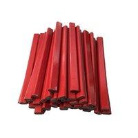 72PC شقة خشبية حمراء نجارة أقلام 2 الرصاص - 72 عدد مربع السائبة صنع في