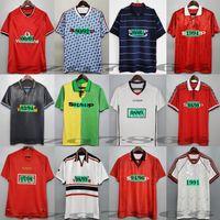 1994 1998 1998 1999 07 07 90 92 Manchester Retro United Soccer Jersey Utd Ronaldo Beckham Cantona Keane Scholes Giggs Chemise de football Rooney