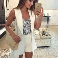 Women Suits 2021 Women Blazer Casual Sleeveless Middle Length Blazers Female Single Button Jacket Office Lady Solid Color Wild Suit Jacket