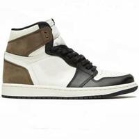 2021 Chaussures de basketball 1S High Smoke Grey Dark Mocha Turbo Green MOCHA Bleu Chill Obsidian Hommes Femmes Sneakers Formateurs avec boîte