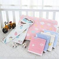 Pillows Infants Soft Cotton Gauze Pillow Cover Cartoon Children Pillowcase Born Baby Breathable Sleeping Towel
