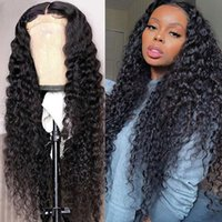 Ishow 30 32 34 36 38 40inch Human Hair Wigs Yaki Straight Kinky Curly Water Loose Deep Body Lace Front Wigs for Women All Ages Natural Color