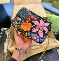 Marmont Ken Scott Floral Cópia de Couro Mini Corrente Saco Especial Editiontote Bolsas De Ombro Cruz Cruz Embreagem Bolsa Mulheres Luxurys Designers Bolsas Coração Bolsas