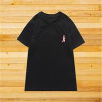 Известный стилист мужские футболки мужские женщины пары ленты окрашены футболки хип-хоп с коротким рукавом тройник