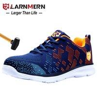 Ларнмерная мужская мужская обувь стальной носят строительство защитная обувь легкая 3D абонепроницаемая рабочая работа 211009