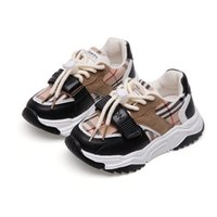 Toddler Boy Sneakers Breathable Plaid Fashionable Baby Running Shoes School Girl Sports Shoes Sneakers