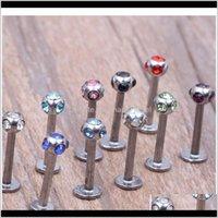 Labret Monroe Ring Lip Aço Inoxidável Bar Body Piercing Jóias 5 GE SQCARQ IYSSM SXR35