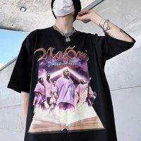 Иисус - Mean High Street Мужская футболка Kanye West Mill Painting Peption Tshirt Мужчины Женщины То же самое короткие рукава Персонаж Топы Kanyes Mearch Music Perigerial Tee