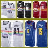 دنفر جديدشذراتNikola جمال 27 موراي الفانيلة Lonzo 2 الكرة 15 Jokic Tracy 1 McGrady Pelicansكرة السلة فينس 15 كارتر 01