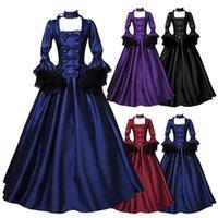 Lässige Kleider Dame Mittelalterliche Vintage Retro Gothic Cosplay Kleid Frauen Ballkleid Spitze Blütenblatt Sleeve Abend Party Court Maxi Vestidos