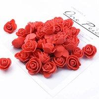Dekoratif Çiçekler Çelenkler 50 adet / takım Gül Yapay Çiçek Başkanı Sahte İpek Ev Dekorasyonu DIY El Yapımı Zanaat Aşk Hediye Düğün Decoratio
