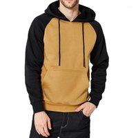 Mens Sweatwear Sweatshirt Patchwork Homme Sweatshirts Homme Pocket Hit Couleur Hoode Hip Hip Hop Top Automne Hiver 20191