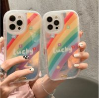 Designers Leather Phone Cases Luxurys Tablet Rainbow for iphone 12 pro Max Apple 11 8 7plus full package X   XR silicone a