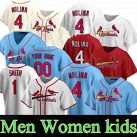 2020 Yeni Özel Erkek Kadın Çocuklar 4 Yadier Molina 13 Matt Carpenter 46 Paul Goldschmidt 50 Adam Wainwright Kardinal Beyzbol Formaları