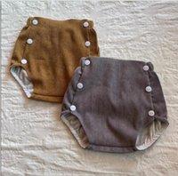 Bebek Kız Katı Elastik Kısa Pantolon Kadife Pantolon Erkek Toddler Yaz Kız Moda Pamuk PP Pantolon Bezi Kapak Külot WMQ631