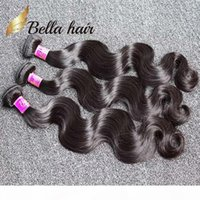 ベラの髪? 8A 8~30インチブラジルの髪の緯度の高品位の人間の髪の延長自然色のブラジルの体波送料無料