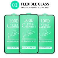 Soft Ceramic Screen Protector Tempered Glass for Iphone 12 Pro Max 11 X XS XR 8 7 6s Plus Full Glue Cover Protective Film