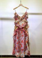 Abito da runway di Milano 2021 New Spring Summer Spaghetti Strap Designer Designer Designer Brand Same Style Dress 0301-31